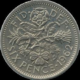 British_sixpence_1962_reverse